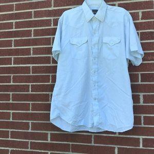 Panhandle Slim Striped Pearl Snap Western SS Shirt